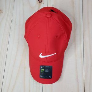 Nike Unisex Adult Red Adjustable Golf Hat Size One